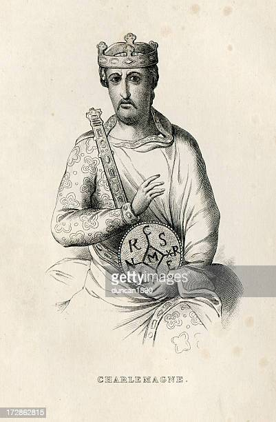 charlemagne - 8th century bc stock illustrations, clip art, cartoons, & icons