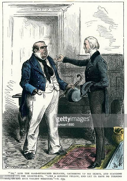 charles dickens - dombey and son - refusing stock illustrations, clip art, cartoons, & icons