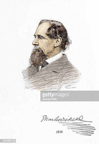 charles dickens - composition stock illustrations