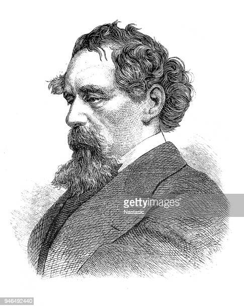 charles dickens - fame stock illustrations