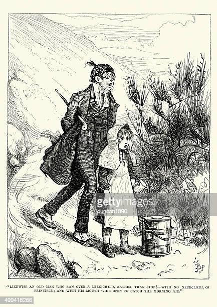 チャールズティケンズ、男性同様に、ミルクを実行した子供