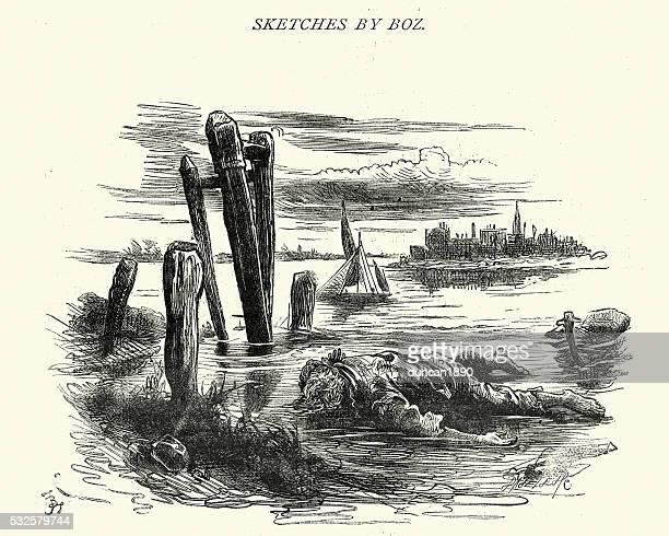 Por Boz, Charles Dickens esboços