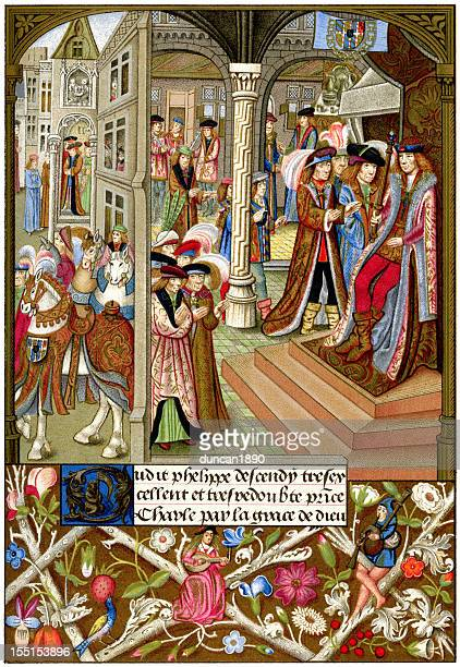 charles, duke of burgundy - king royal person stock illustrations