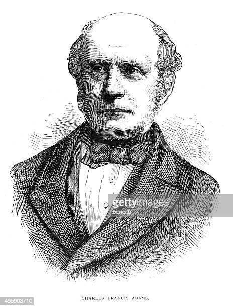 charles francis adams - governmental occupation stock illustrations, clip art, cartoons, & icons