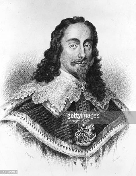 Charles I , King of England, Scotland and Wales from the death of his father in 1625, until his execution in January 1649, pictured circa 1645.