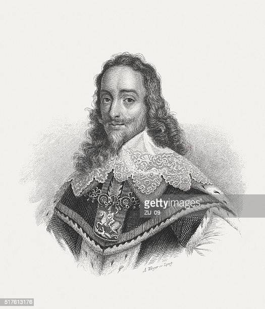 Charles I (1600-1649), steel engraving, published in 1868