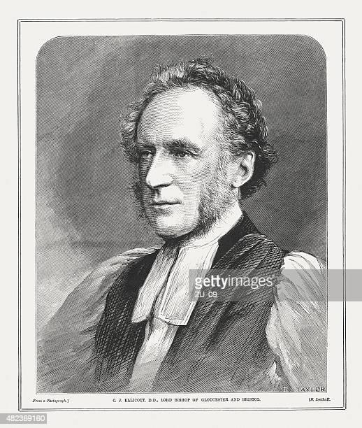 charles john ellicott (1819 - 1905), english theologian, published 1873 - 1905 stock illustrations, clip art, cartoons, & icons