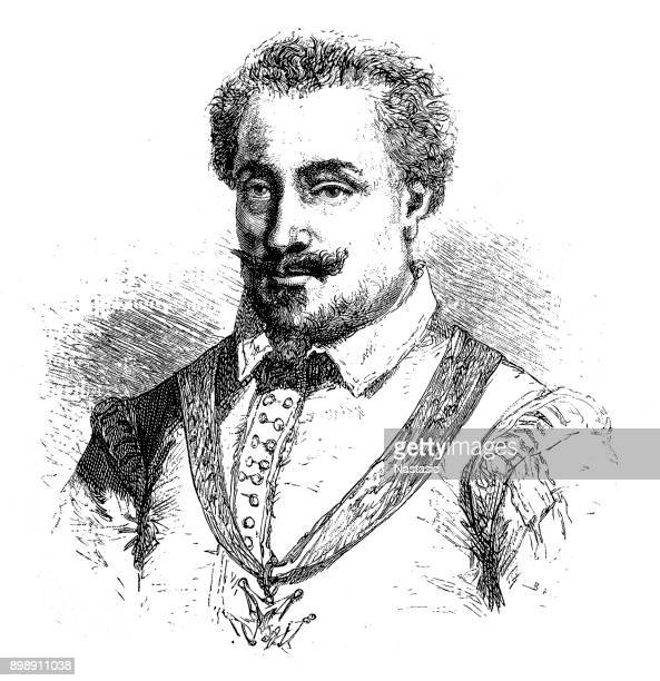 charles of lorraine, duke of mayenne (26 march 1554 – 3 october 1611), or charles de guise - lorraine stock illustrations, clip art, cartoons, & icons