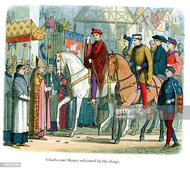 Charles VI of France and Henry V welcomed