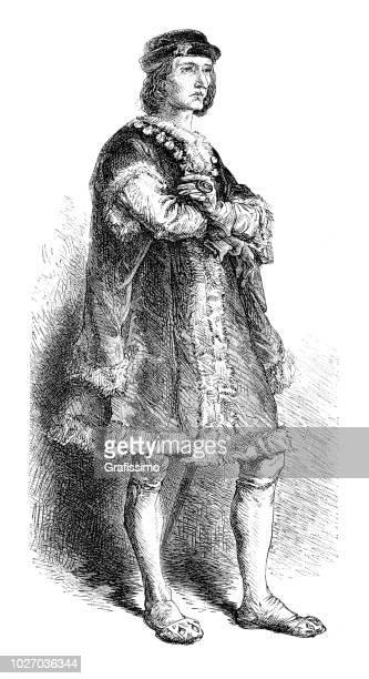 Charles VIII of Sweden portrait illustration