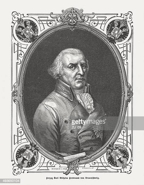charles william ferdinand, duke of brunswick-wolfenbüttel, pubölished in 1871 - fine art portrait stock illustrations, clip art, cartoons, & icons