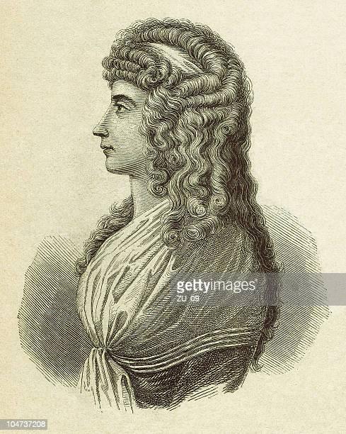 Charlotte von Stein (1742-1827), wood engraving, published 1879