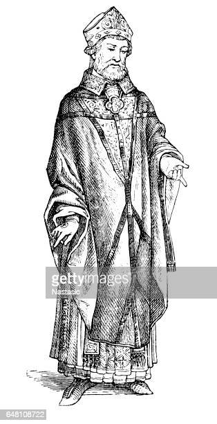 chasuble - bishop clergy stock illustrations, clip art, cartoons, & icons