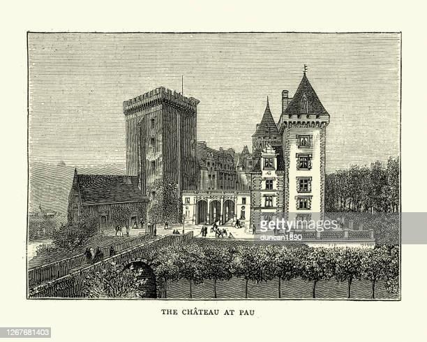 19世紀、フランス、ポーのシャトー - ポー市点のイラスト素材/クリップアート素材/マンガ素材/アイコン素材