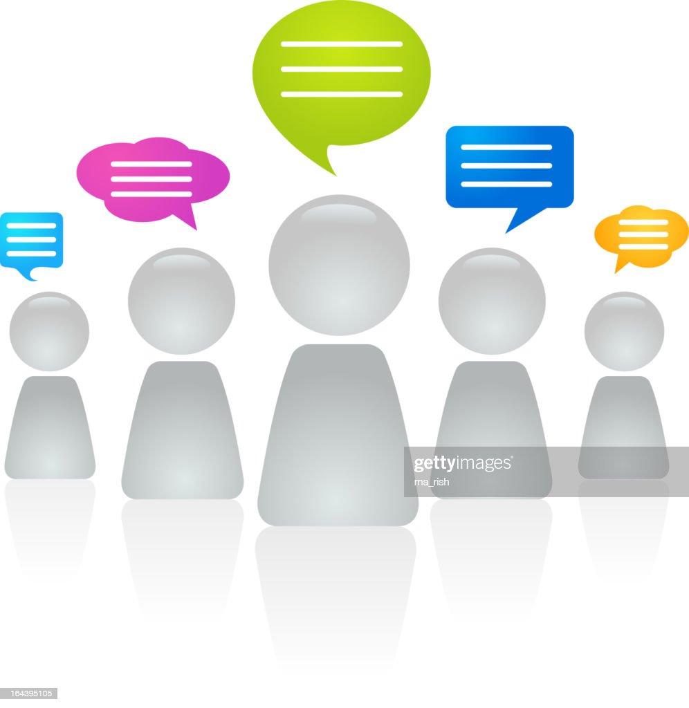 Chatting figures