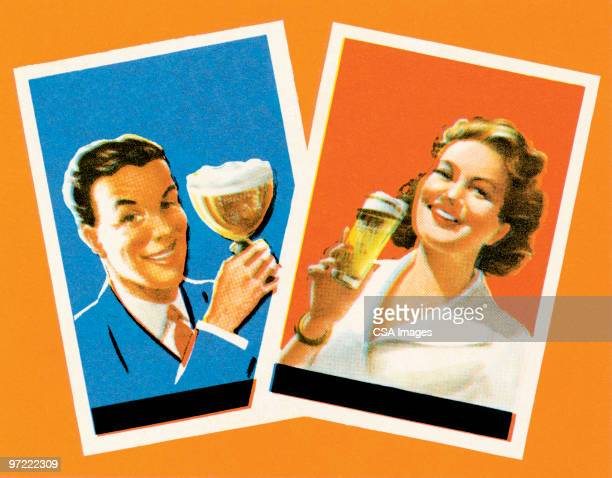 cheers! - happy hour stock illustrations, clip art, cartoons, & icons