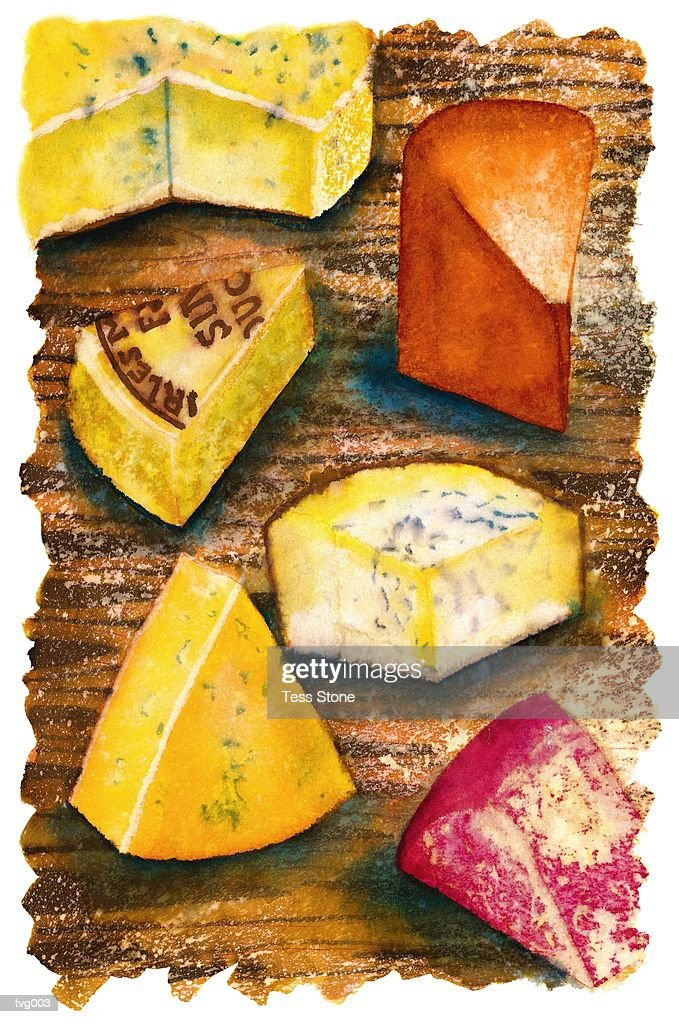 Cheese Board : Stock Illustration