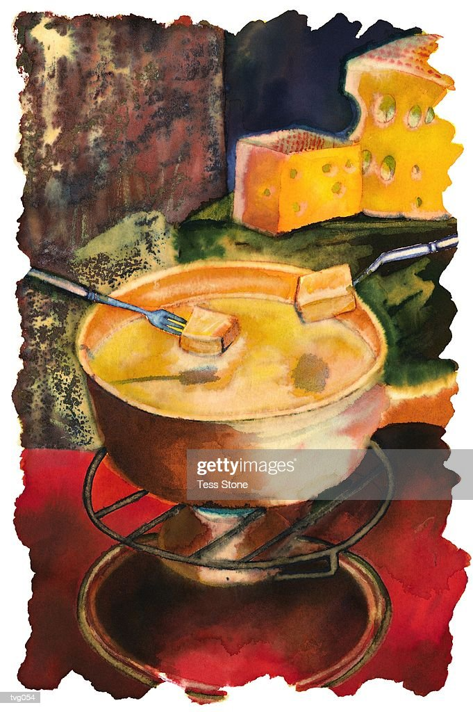 Cheese Fondue : Ilustración de stock