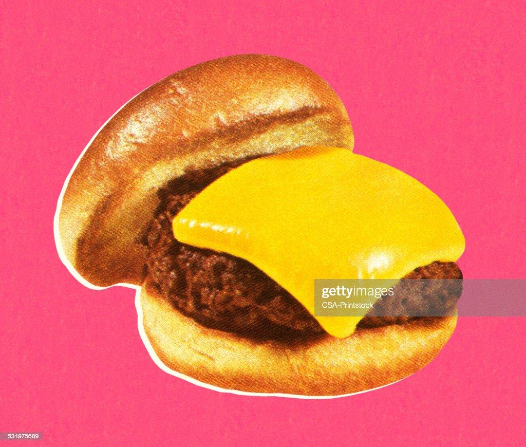 Cheeseburger : stock illustration