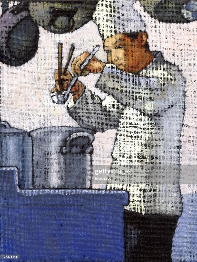 chef at work : Illustration