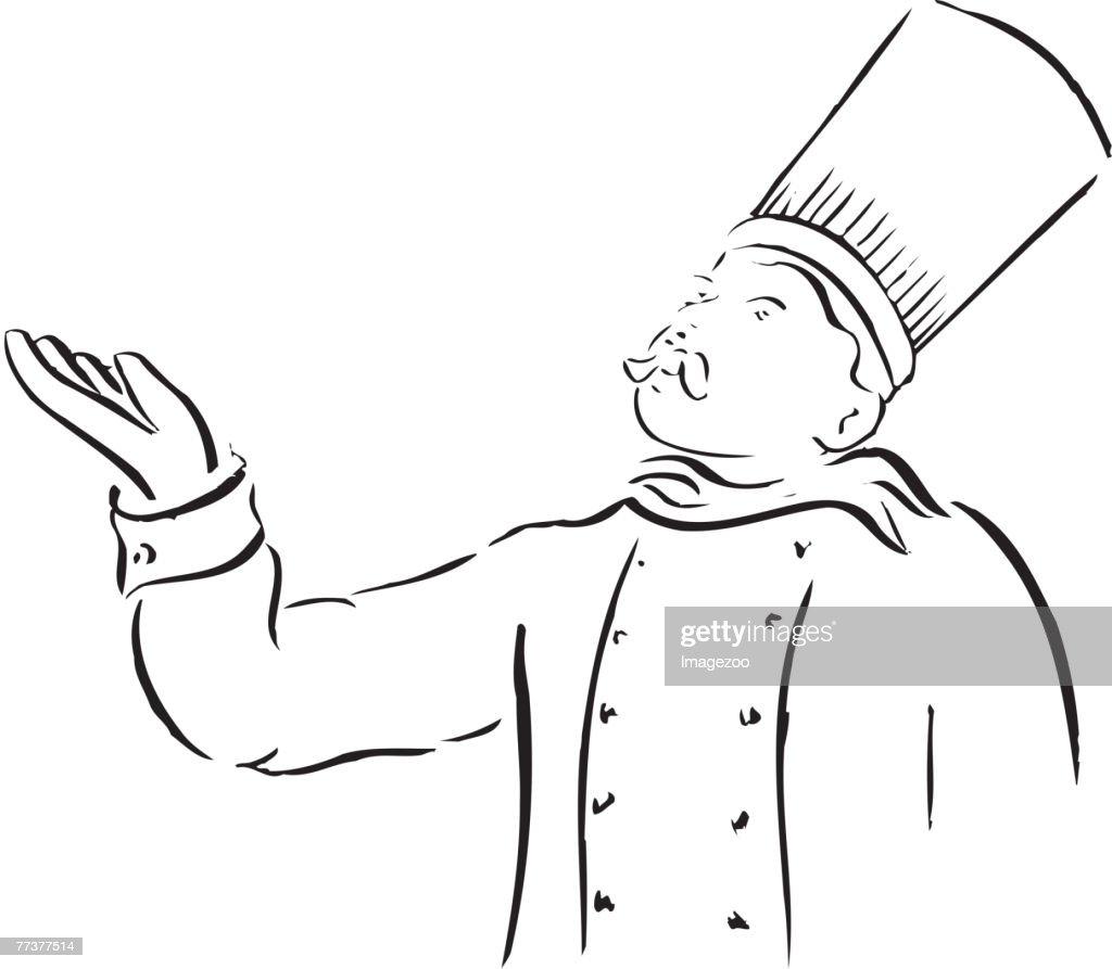 chef b&w : Illustration