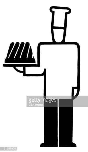 chef - baker occupation stock illustrations