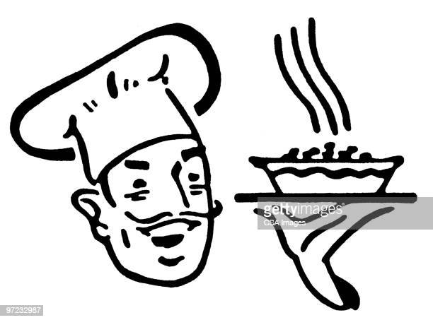 chef - steam stock illustrations