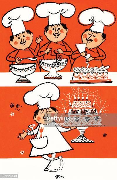 chef pattern - chef stock illustrations