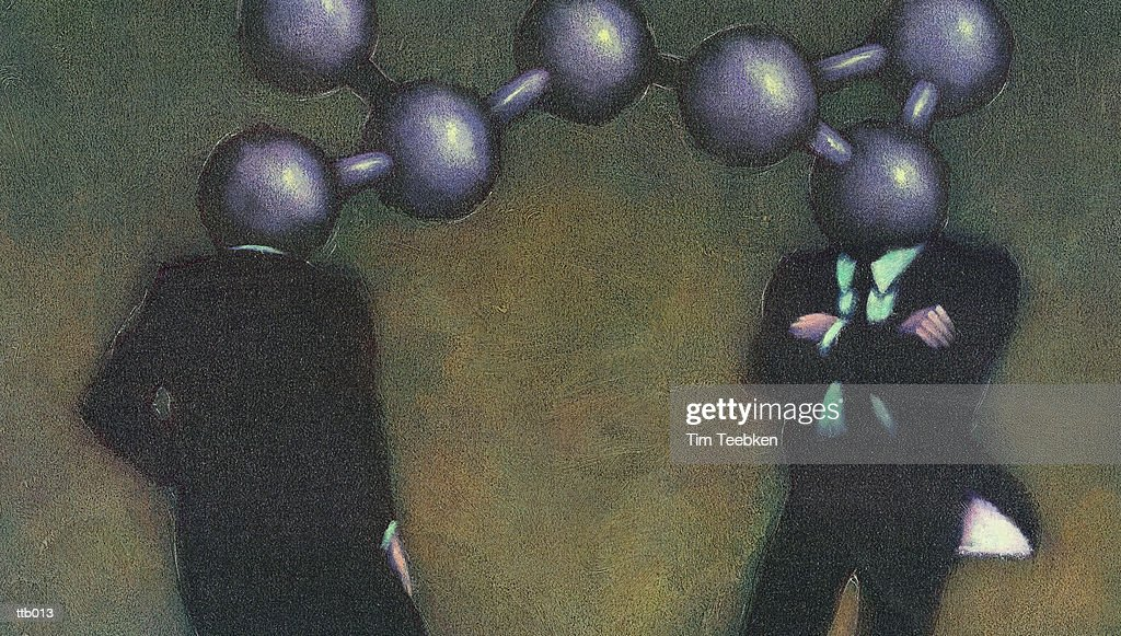 Chemically Bonded Businessmen : Stockillustraties