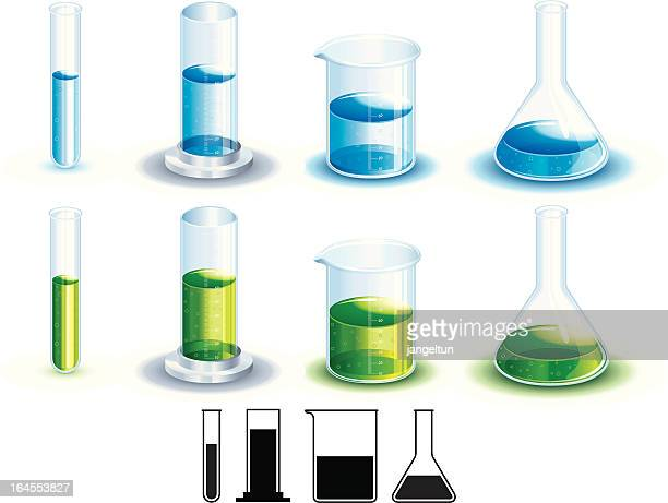 chemistry set - volume fluid capacity stock illustrations
