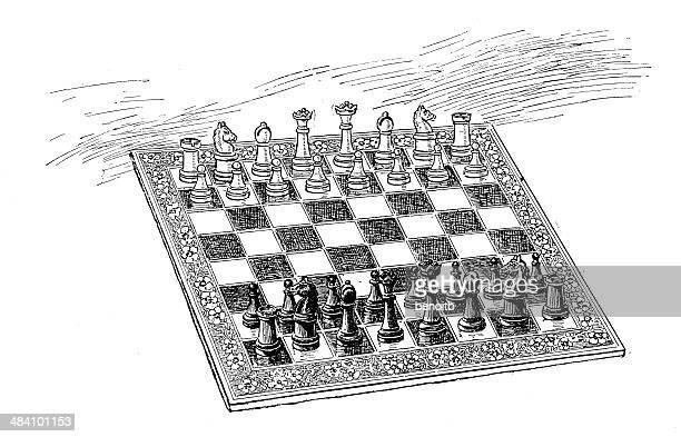 ilustraciones, imágenes clip art, dibujos animados e iconos de stock de juego de ajedrez - torre pieza de ajedrez