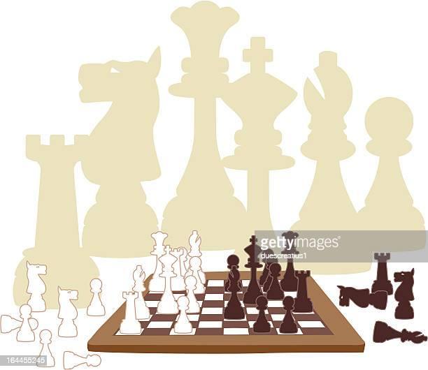 ilustraciones, imágenes clip art, dibujos animados e iconos de stock de de ajedrez piezas - tablero de ajedrez