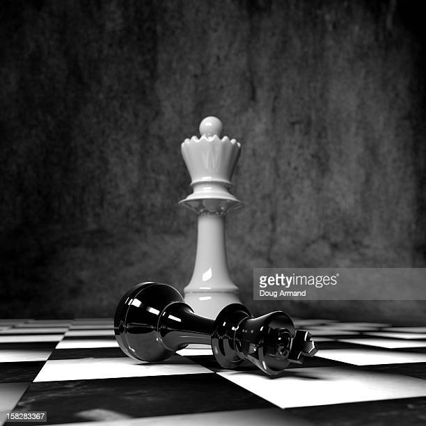 chess pieces on a board - defeat stock illustrations