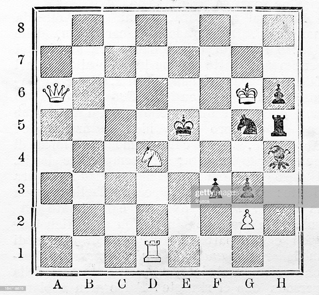 Cuestionario de ajedrez : Ilustración de stock