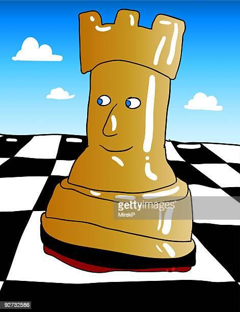 ilustraciones, imágenes clip art, dibujos animados e iconos de stock de torre de ajedrez - tablero de ajedrez