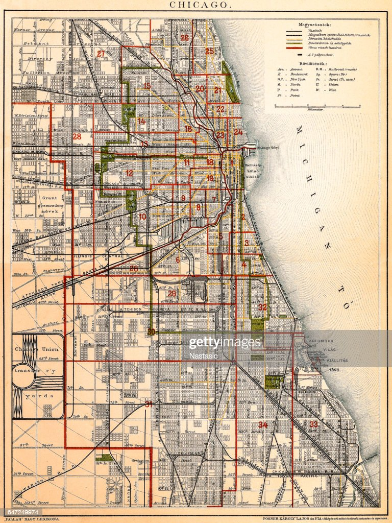Chicago map : stock illustration