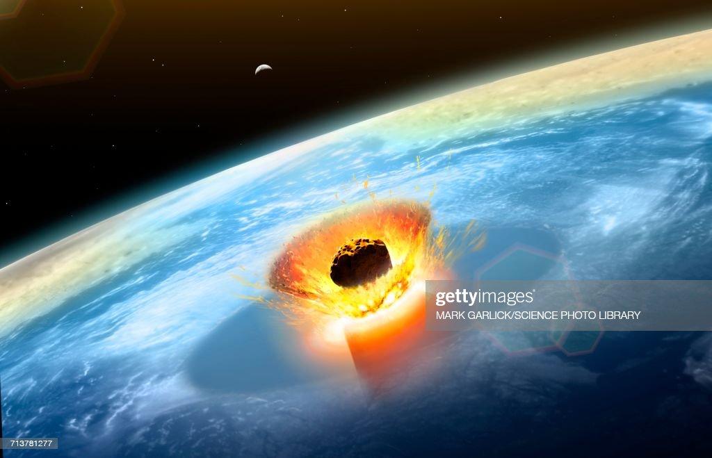 Chicxulub Asteroid Impact : stock illustration