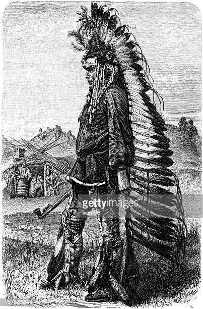 chief - indian costume stock illustrations, clip art, cartoons, & icons