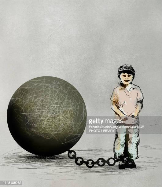 Child imprisonment, conceptual illustration