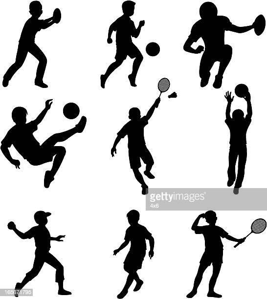 Children doing different sports activities