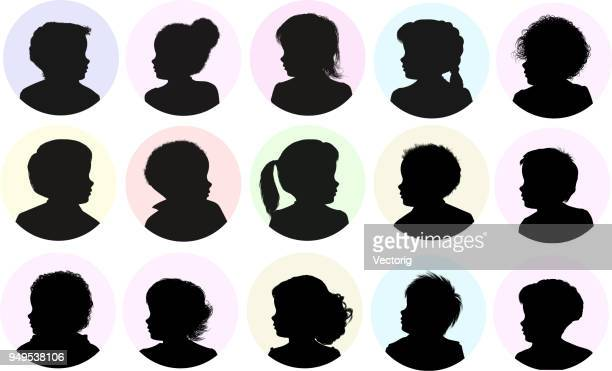 Children Head Silhouette