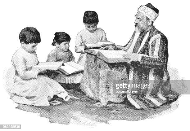 Children learning the Teachings of Islam in Istanbul, Turkey - Ottoman Empire