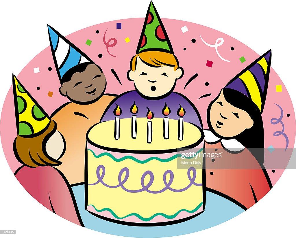 Children's Birthday Party : Ilustração de stock