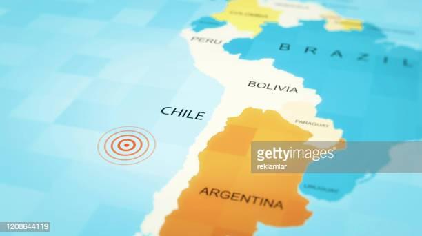 チリ地図地震コンセプト。 - リヒタースケール点のイラスト素材/クリップアート素材/マンガ素材/アイコン素材