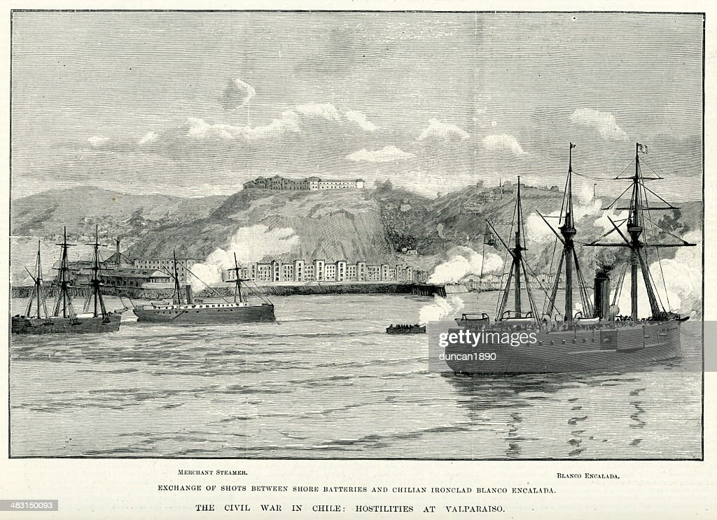 Chilean Civil War of 1891 : stock illustration