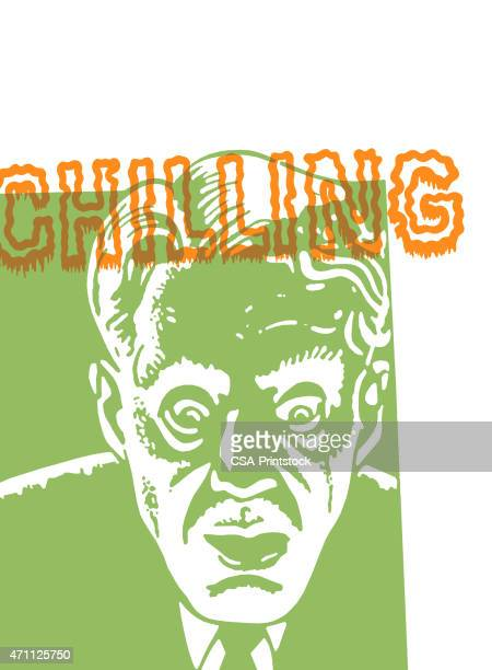 chilling face of a man - gasping stock illustrations, clip art, cartoons, & icons