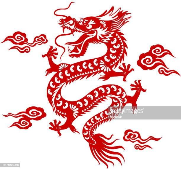 Chinese Dragon Paper-cut Art