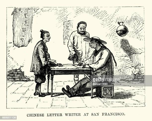 Chinese letter writer, San Francisco, 19th Century
