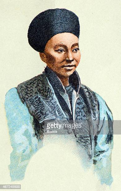 Chinese man, antique illustration, human ethnicities