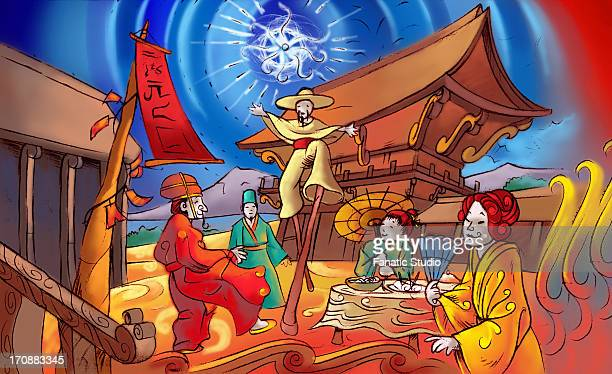 chinese new year celebration - 住宅団地 発祥の地点のイラスト素材/クリップアート素材/マンガ素材/アイコン素材